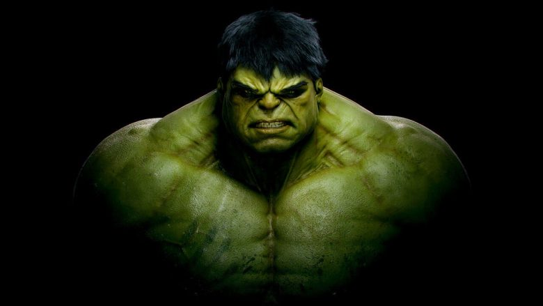 The Hulk on a black background. Be like the Hulk on your journey finding yourself.